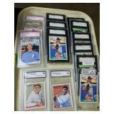 14 Graded Baseball Cards. Babe Ruth, Randy Johnson