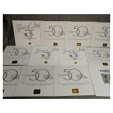 12 Waterfowl Prints With Medallions