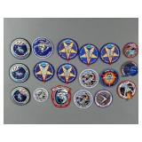 18pc Vtg NASA Mission Patches w/ Challenger