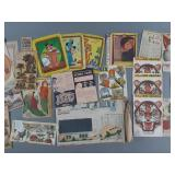 Vtg Cereal Box Clippings & Box Cut Out Lot