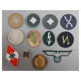12pc WWII German Insignia Patches Lot