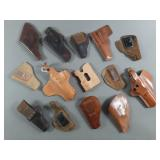 14pc Vintage Leather Gun Holsters Lot