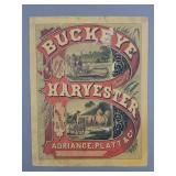 Antique Buckeye Harvester Sign Poster Implements