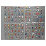 109pc Flags of the Nations Tobacco Pins Lot