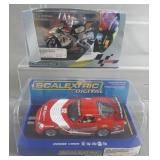 2pc Scalextric 1/32 Slot Cars w/ Motorcycle