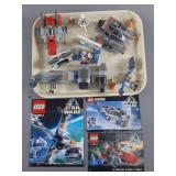 3pc Lego Star Wars Sets w/ B-Wing, A-Wing