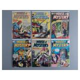 6pc Silver Age DC House of Mystery Comics
