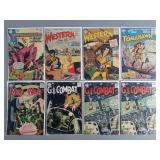 8pc 10 Cent Western & Military Comic Books