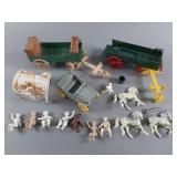Vtg Ideal Roy Rogers Chuck Wagon & Jeep w/ Parts