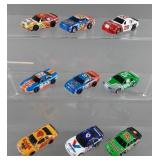 9pc Tyco Stock Car HO Slot Cars w/ Chassis