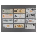 11pc 19th Century Bank Checks-Some Unused