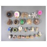 24pc Vintage Ladies Pins Lot