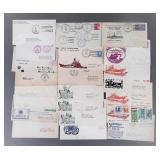 21pc US Naval Covers Lot
