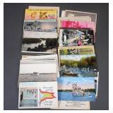 54pc Antique US Postcards Lot