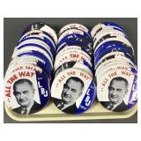 """54pc 1964 Lyndon Johnson LBJ Political Pinbacks 6"""""""