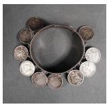 Victorian Silver Love Token Bracelet