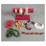 9pc Vintage Ladies Bracelets Lot