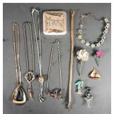 11pc Vintage Ladies Jewelry Lot