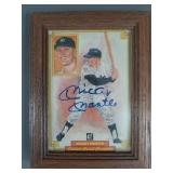 Mickey Mantle SIGNED Donruss Grand Champion Card