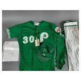 Phila Phillies Steve Jeltz Game Used Uniform