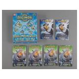 7pc Digimon Game Card Packs & Starter Set