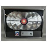 """Journey """"Escape"""" Platinum 5-Album Record Display"""
