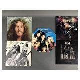 5pc Vtg Rock LPs w/ Rolling Stones KISS ++