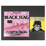 2pc Punk Vinyl Records w/ Sealed Black Flag LP