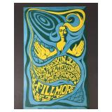 1st Print 1967 Fillmore Show Poster w/ Steppenwolf