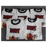 5pc 2004 Hellboy Animated Series Promo T-Shirts