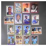 16pc 1975-1991 Baseball Card Lot