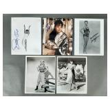 "5pc 8""x10"" Actress & Entertainer SIGNED Photos"