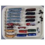 21pc N Scale Train Engines & Rolling Stock