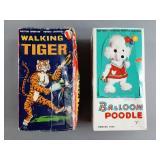 Vtg Marx Walking Tiger B/O Toy w/ Box +