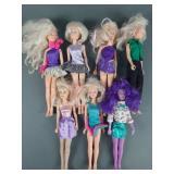 7pc Vtg Hasbro JEM & the Holograms Dolls