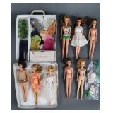 Vtg Barbie Francie & Casey Lot in Case