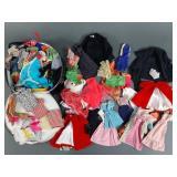 Vtg Barbie & Friends Clothing Lot in Case