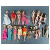 Vtg Mod Barbie Doll & Parts Lot