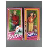 Vtg Barbie Oriental & Canadian Dolls in Box