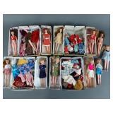4 Cases Vtg Barbie Skipper Clone KO Dolls