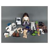 American Girl Doll w/ Clothes & Computer