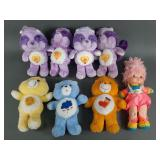 8pc Vtg Care Bears & Rainbow Brite Plush