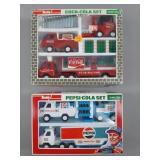 Vtg Buddy L Coca-Cola & Pepsi Trucks Sets