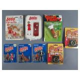 9pc Vtg Orphan Annie & Dick Tracy Collectibles NIP