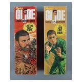 """2pc Vtg 12"""" GI Joe AT Figure EMPTY Boxes"""