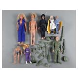 Vtg Character Doll Lot w/ Bionic Woman