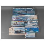 8pc Vtg Military Ships & Carrier Model Kits