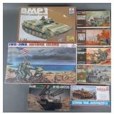 8pc Mixed Military Model Kits Unused in Box