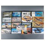 17pc Heller & Revell Aircraft Models in Box