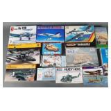 14pc Mixed Model Kits Unbuilt in Box w/ Military